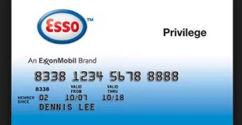 Esso Mobil Privilege Card